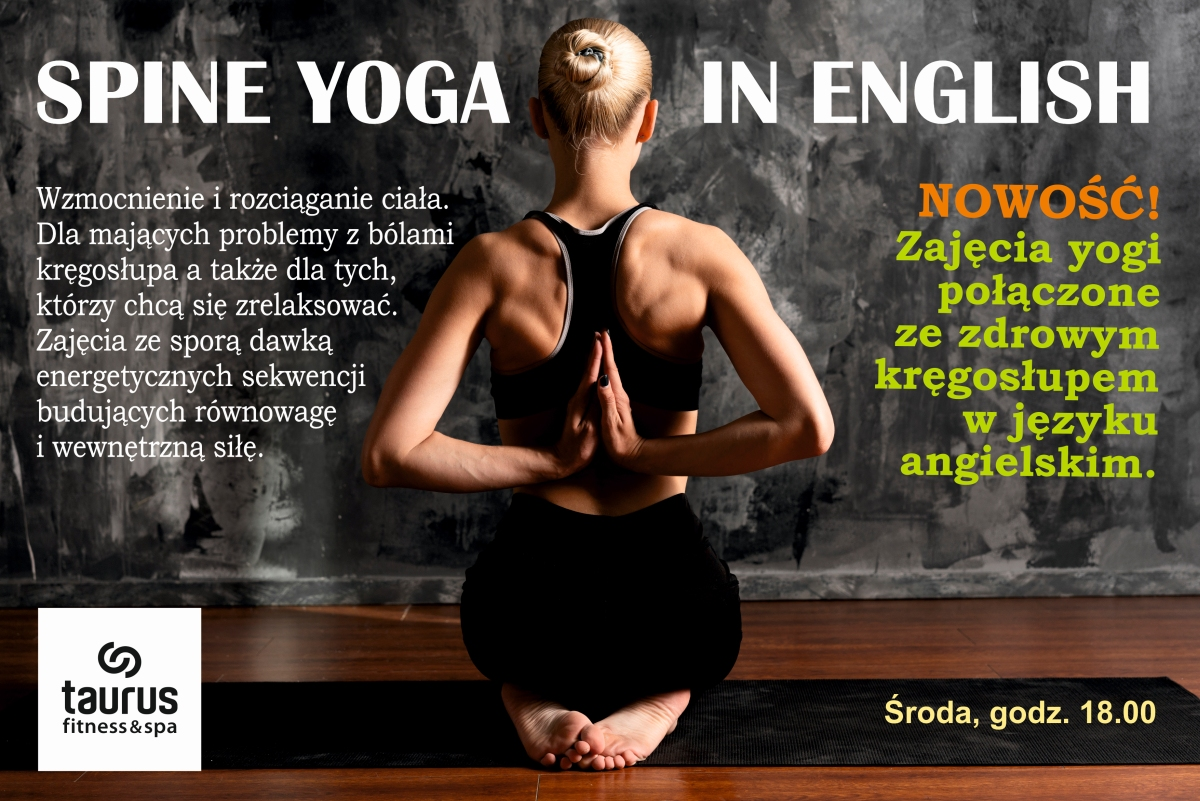 SPINE YOGA IN ENGLISH - nowe zajęcia!